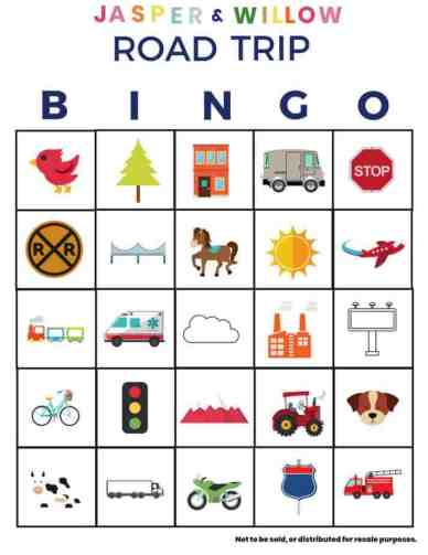 How To Survive A Road Trip With Kids - FREE Road Trip Bingo Game