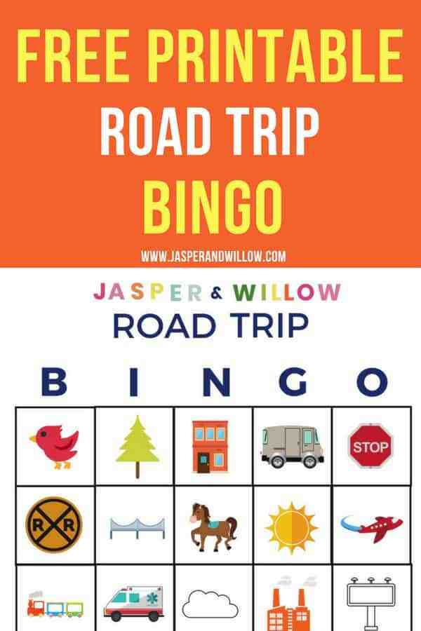 how to survive a road trip with kids free road trip bingo