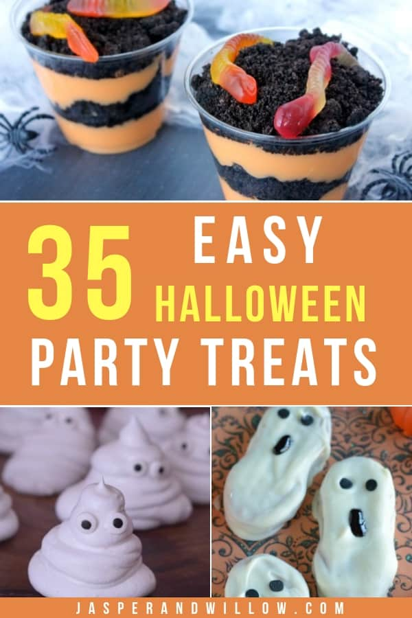 These easy Halloween treats are perfect for kids school parties, and for adults too! With spider Halloween treats, and even no bake Halloween dessert ideas! Keep reading to find the perfect DIY Halloween treat for you!