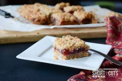 oatmeal cranberry bars on plate
