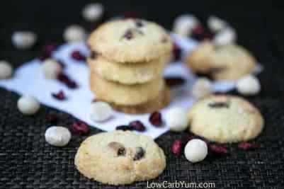 Be cranberry orange cookies on napkin