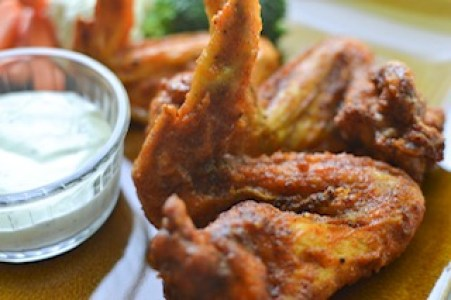 buffalo wings recipe on plate