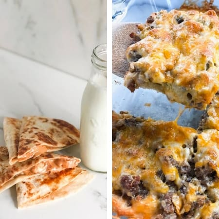 make ahead freezer meals for breakfast with quesadillas and casserole