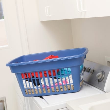clean laundry in basket is way to keep home clean daily