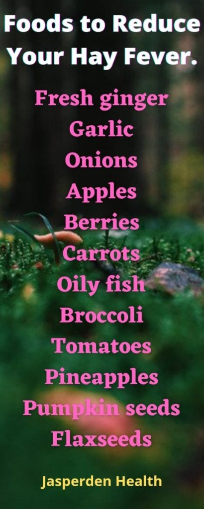 Foods to reduce hay fever symptoms
