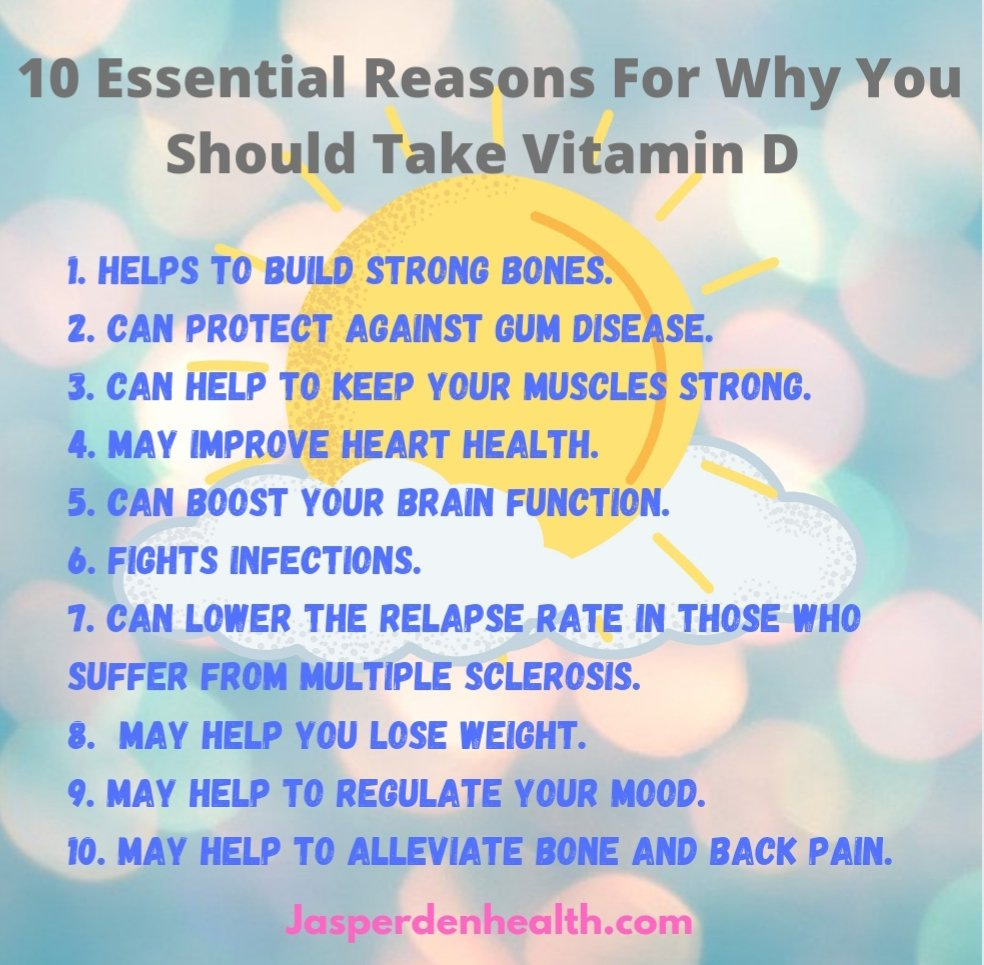 A picture of the sun and text saying10 Essential Reasons for Why You Should take Vitamin D