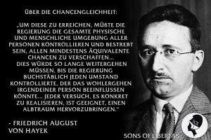 Zitat der Woche: Hayek über Chancengleicheit