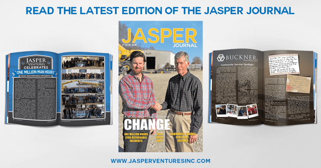 Read the Latest Jasper Journal 1st Quarter 2018