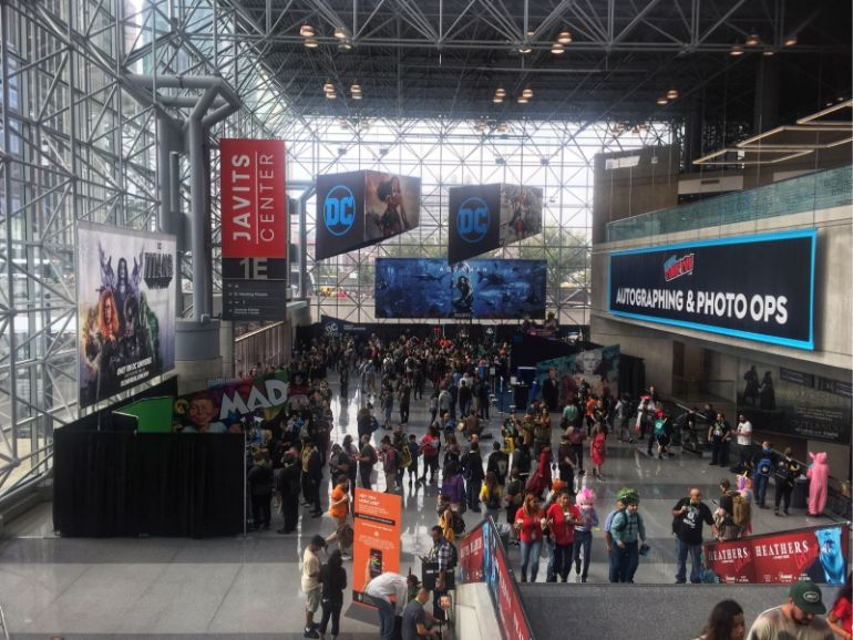 Comic con 2018 nyc javits center left side