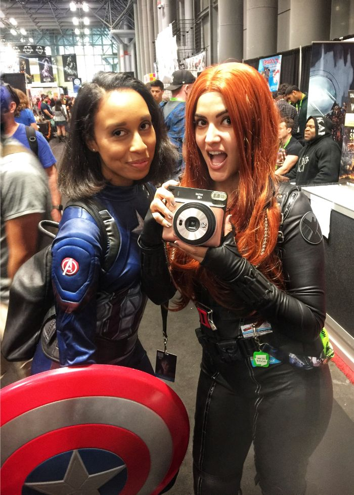 girl captain america and black widow cosplay at nyc comic con