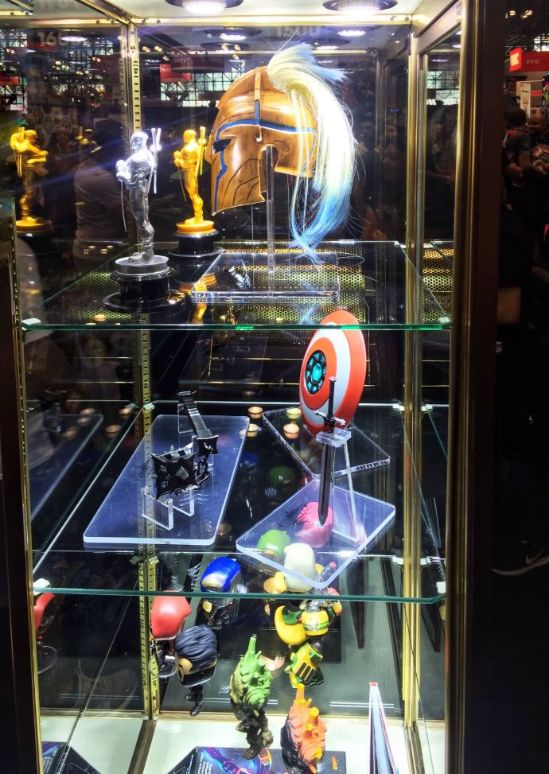 merch on display at comic con