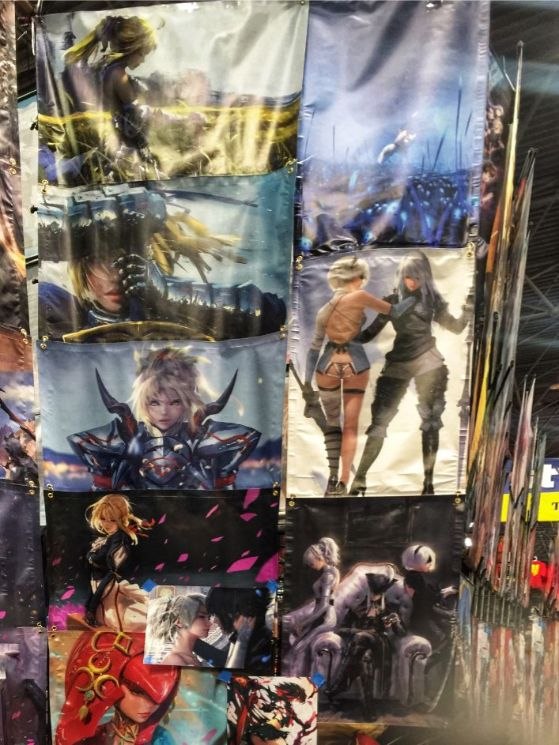 posters for sale at comic con
