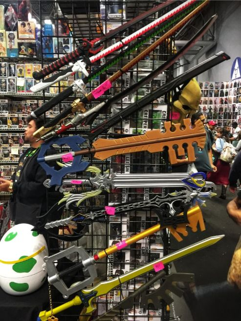 swords and blades for sale at comic con