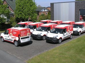 Sammlung einer umgebauten Flotte für den Kunden GLORIA.
