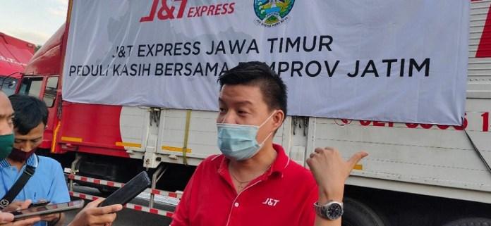 J&T Express Beri Donasi Paket Beras dan Perlengkapan Pencegahan Covid-19 ke Pemprov Jatim