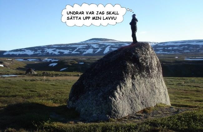 Spanar på stenen