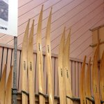 Skidspetsar av Östergren skidor