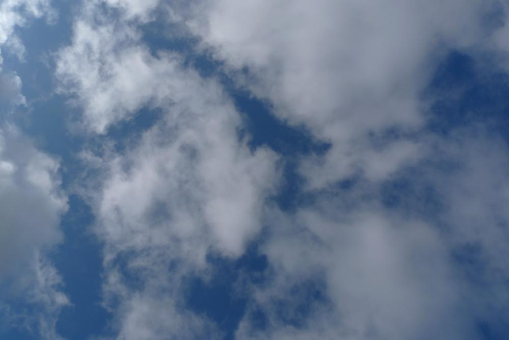 Bild av himmeln med lätta moln