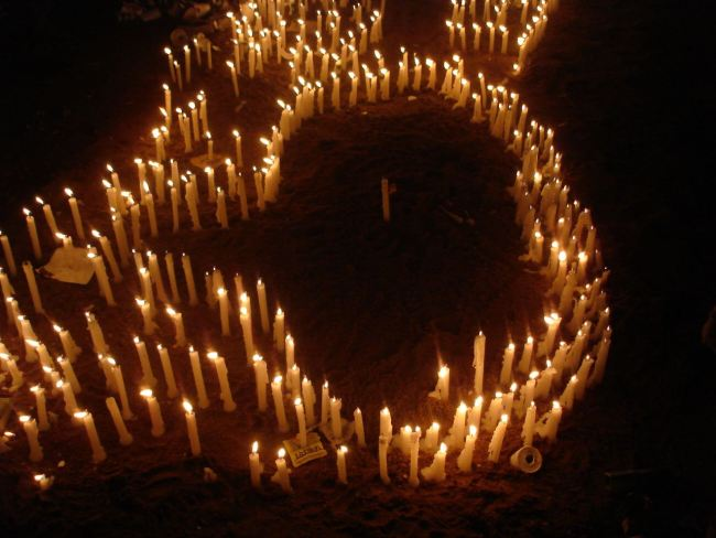 A map of Timbet built with candles