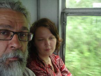 Me and Evelina on the Shimla Toy Train