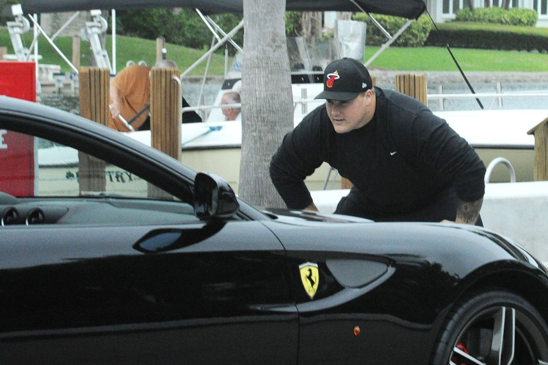 EXCLUSIVE: Suspended NFL player Richie Incognito gets a flashy new Ferrari