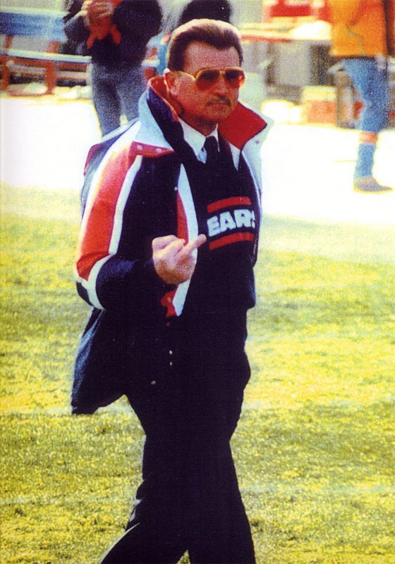Mike Ditka Giving The Bird