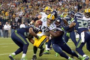 Aaron Rodgers Sacked by Seahawks