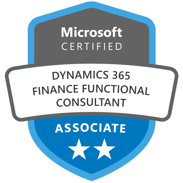 Microsoft Certified Dynamics 365 Finance Functional Consultant Associate