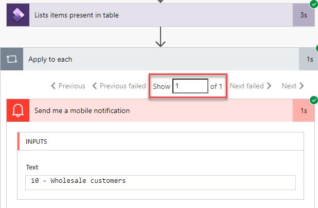 Power automate - Opción ejecutada