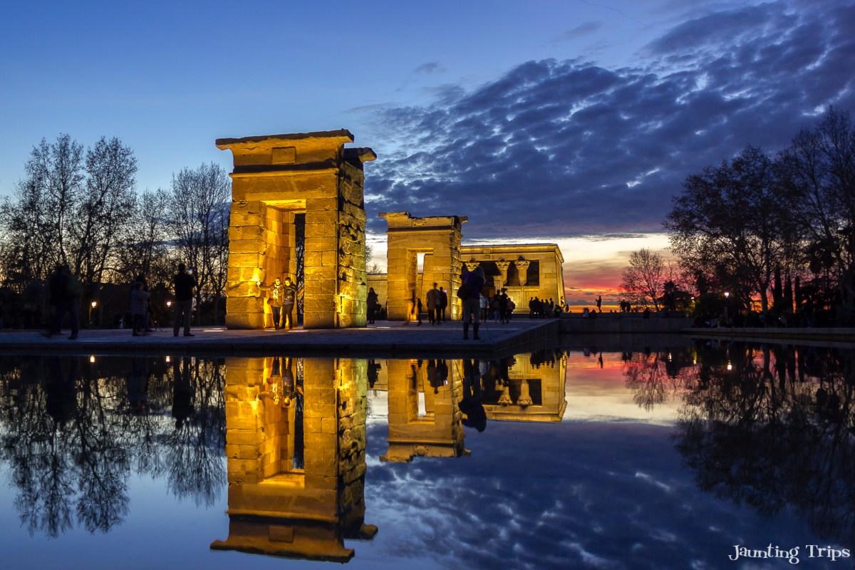 temple-debod-sunset