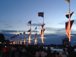 Evening sets on the world flags - notice the Portuguese flag there!!