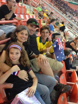World Cup qualifier game - Austin rooted for Australia, we rooted for Thailand