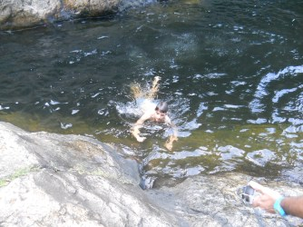 Austin after some cliff jumping