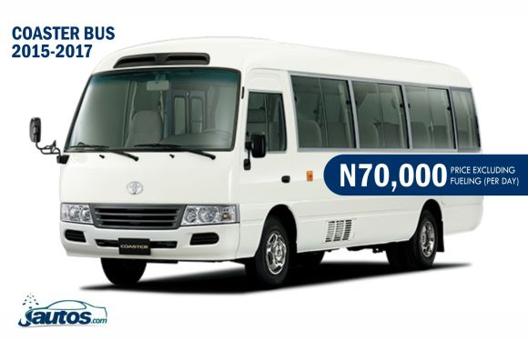 COASTER BUS 2015-2017- N70,000 (AMOUNT PER DAY WITHOUT FUELING