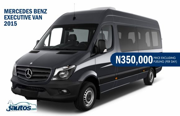 MERCEDES BENZ EXECUTIVE VAN 2015- N350,000 (AMOUNT PER DAY WITHOUT FUELING)