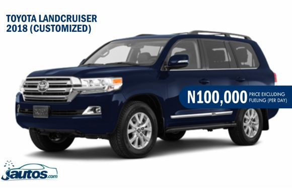 TOYOTA LANDCRUISER 2018-CUSTOMIZED- N100,000 (AMOUNT PER DAY WITHOUT FUELING)