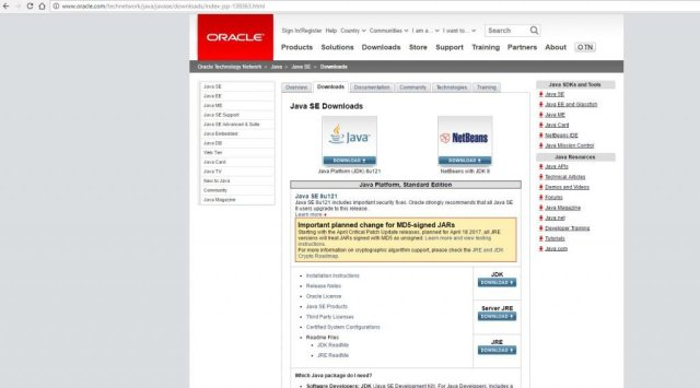 oracle main page