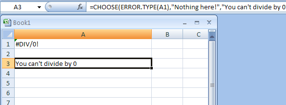 Combine CHOOSE And ERROR.TYPE To Display Friendly Error