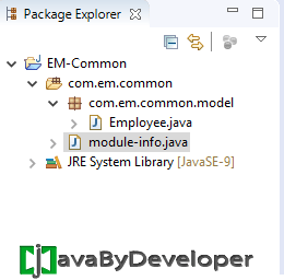 Eclipse Module Project Java 9 - Step9