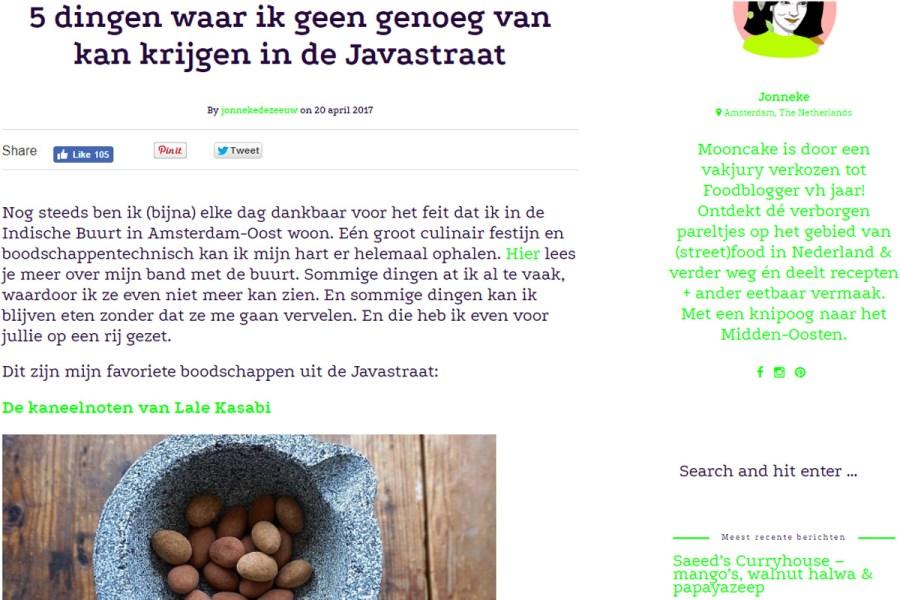 Screenshot artikel Mooncake Javastraat