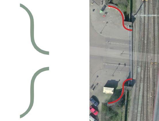 Accolades volgen de vorm van het spoorviaduct