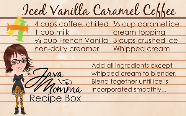 Iced Vanilla Caramel Coffee