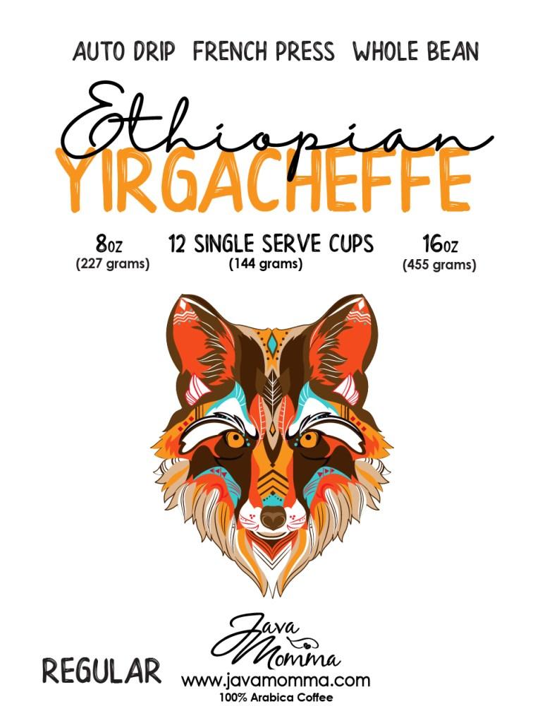 ethiopian yergacheffe coffee beans from Java Momma