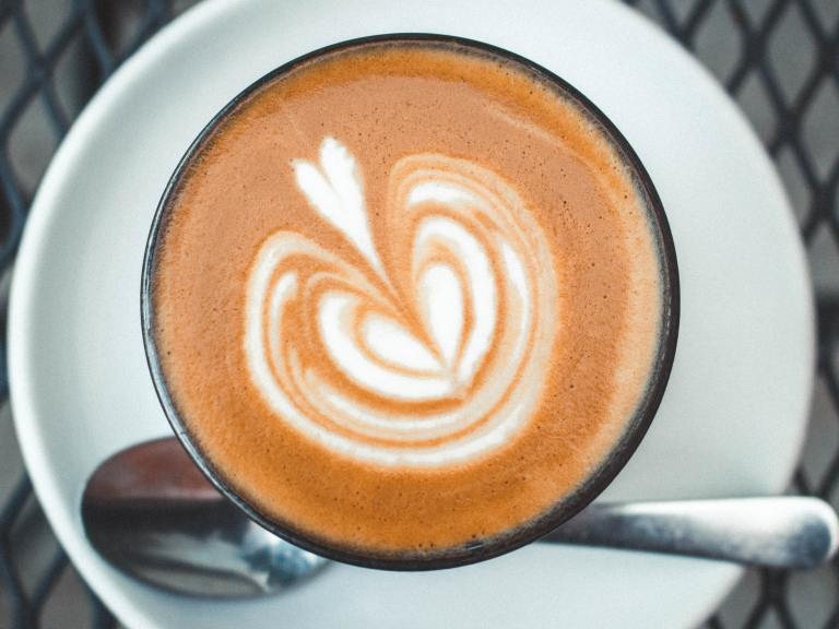 texturing milk for coffee latte art