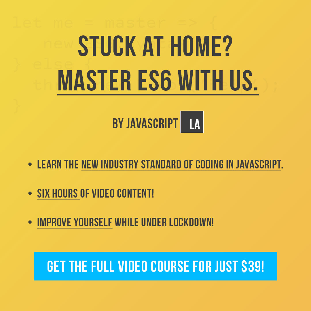 Master New Syntax of JavaScript, ES6