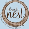 blessed nest logo ltmb blue