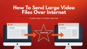 Sending large files by the Internet