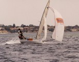 Mark Kenah & John Wilson (NZ) in the P&O Nedloyyd Boat hoping the rudder holds on.