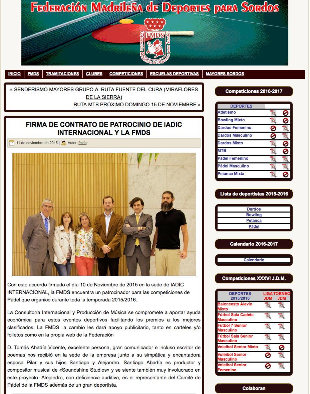 """""""FIRMA DE CONTRATO DE PATROCINIO DE IADIC INTERNACIONAL Y LA FMDS"""""""