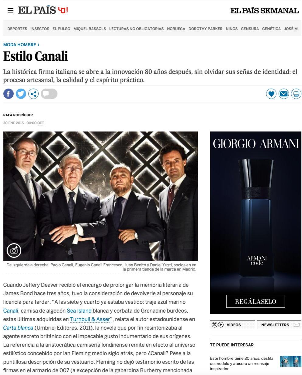 """""""Estilo Canali"""""""